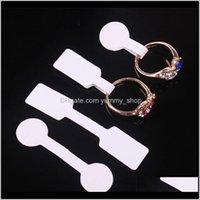 Quadratische Runde Papier Tags für Ring Halskette Armband Tag Display Label W9N93 Karte EQK5L