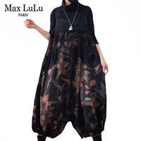 Max lulu restaure coréen fleurs décontractés jeans dames loisirs loisirs combinaisons femmes vintage denim jetwear surdimensionné