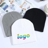 Beanie Skull Caps Wintercustom Made Hats For Women Beanie Cap Solid Warm Knitted Skullies Beanies Man Thick Black Gray White Colors