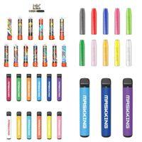 Одноразовые E-Cigarettes Puff Puff Plus Plus 800 Puffs Vapes Cigarette 80 Цветов Картридж POD 550 мАч Батарея 3,2 мл Pre Заполненный Vape Pen Pods Stick