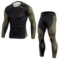 Беговые наборы мужчина спортивная одежда набор тренажерный зал одежда футболки бега трусцой трексуита компрессионный спортивный костюм мужчины леггинсы одежда
