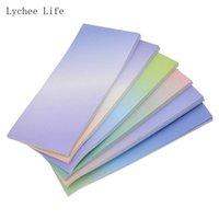 Cadeau Cadeau Lychee Life 1PCs Color Color Color Scrapbook Papier Autocollant Pour Planner Rectangle Memo Pad Happy Post Diy Artisanat