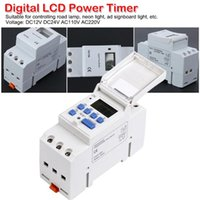 Commande de minuterie de temps industriel numérique programmable Contrôle de la minuterie 15A DC12V / 24V AC110V / 220V Mount de 7 jours