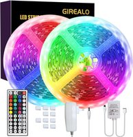 Girealo 150 LED Bande de fête LED lumières LED Couleur Changement de bandes de change 32.8ft avec 44 touches Télécommande Adaptateur UL UL Safest UL pour la chambre à coucher Décor de la barre