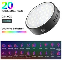 Ulanzi R66 RGB Video Light LED Camera 360 Full Color Pography Lighting CRI 95 2000mAh Rechargable Vlog For Live Flash Heads