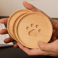 Mats & Pads 1PC Round Cute Bear Pattern Coasters Bowl Pad Handmade Placemats Table Padding Cup Kitchen Decoration Accessories