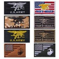 3D ткани военно-морские уплотнения значки армии американский фанат вентилятор ткань военные наклейки вышивка крючок и контурные застежки аппликации американский флаг рюкзак тактические патчи
