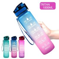 US Stock High Capacity 32oz 1L Fashion Water Bottle with Motivational Time Marker To Drink Portable for Sports Gym and Outdoor Water Cup
