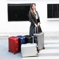 Design classico di lusso 20/24/26/29 pollici bagaglio 100% di alta qualità alluminio-magnesio spinner marca viaggio valigia valigia valigia