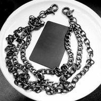Hip Hop Rock Homens Esqueleto Cabeça Cabeça Corrente Cintura Cintura Chaveiro Chaveiro Masculino Calças de Cadeia De Metal Calças De Metal Acessórios De Vestuário Jóias