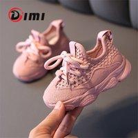 DIMI sonbahar bebek kız erkek toddler ayakkabı bebek rahat koşu ayakkabıları yumuşak alt rahat nefes çocuk sneaker 201130