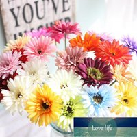 Fake Flower Decorations Home Artificial Flower Daisies Sunflower 20 Colors Handmade Bouquet For Wedding Decorations1