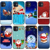 Mobile Cell Phone Cases For Iphone 13 13mini 13pro 13promax 12promax 12 12pro 12mini 11promax 11pro 11 Xsmax Xr 7 8 6 Mini Pro Santa Claus Snowman Christmas Cover Shell