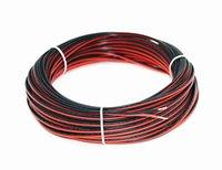 Kabel 2pin kabel voor enkele kleur 5050 3528 5630 3014 2835 LED-strook, 600m / partij, 600 m lang, rood en zwart draad