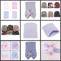 Newbornable Baby Custhet Bow Hats Симпатичные Детские Девушки Леопарда Мягкие Вязание Хеджирование Крышки Большие Луки Осень Зима Теплая Шина Хлопковая шапка 600 Y2