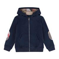 2021 Vår Höst Baby Boys Jackor Kids Bomull Zipper Coats Barn Hooded Jacket Boy Outwear Barn Casual Cardigan Coat