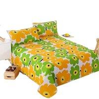 Sheets & Sets 3pcs Cotton Fitted Sheet 3 Pcs Bed Set Bedsheets Queen King Twin Size 1 Pc + 2 Case Linen