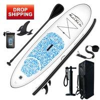 Funwater Drop Ship Consegna entro 7 giorni Tavola da surf 305 * 76 * 15 cm Paddle Stand Up Sup Board Gonfiabile Paddleboard Sport acquatico