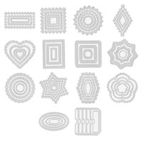 Painting Supplies Creative Lace Frame Shaped Embossing Tool Decorative Die Cuts For Card Making Scrapbooking DIY Etched Craft Dies