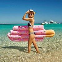 196x86 cm Büyük Boy Yetişkin Şişme Dondurma Popsicle Havuz Şamandıra Su Dağı Parti Eğlenceli Oyuncak Yüzme Yüzük Ücretsiz Yüzer Tüpler