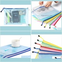 Filing Products Supplies Business & Industrial 5 Colors A4 A5 Pvc Storage Bag School Office Supply Transparent Loose Sheet Notebook Zipper S