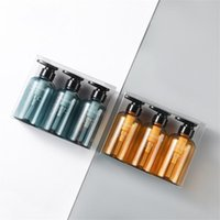 Storage Bottles & Jars 3PCS Set 500ml Liquid Soap Dispenser Bottle Bathroom Shampoo Body Wash Press Type Lotion Empty Perfumes
