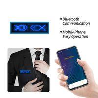 Bluetooth rechargeable Bluetooth LED Badge programmable Texte de défilement Société de la promotion de la promotion des employés Price Tag Décoration de fête
