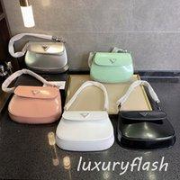 여성 작은 호보 2021 Luxurys 어깨 unterarm 가방 디자이너 가방 핸드백 광택 패션 브랜드 지갑 실버 쉬머 플립 5 색 도매