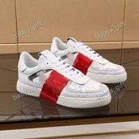 Perfect Rock Runner Camuflaje de cuero zapatillas zapatos de zapatos, mujeres luxe estilo estilo roca tachuelas entrenadores al aire libre zapatos casuales
