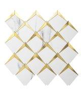 Art3D 10-Sac 3D Duvar Çıkartmaları Kendinden Yapışkanlı Elmas Mozaik Kabuğu Ve Sopa Backsplash Fayans Mutfak Banyo, Duvar Kağıtları (26.4x26.4cm)