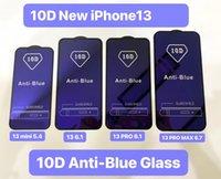 10d Anti-blue Light Full Cover Tempered Glass Phone screen protector for iphone 13 12 11 mini pro max xr xs 6 7 8 Plus Samsung A92 A72 A52 A42 A32 A22 Anti-Scratch film