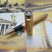 BallPoint Pennor Partihandel Främjande Jinhao H800 Noblest Silver Carver Dragon Pen Metal Present Roller Ball med väska