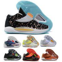 KD 14 رجل نساء أحذية كرة السلة كيفن دورانت 14S الأزهار حلم المنزل الضروري مخدر عميق الملكي 2021 Zoom Scarpe Trainer Sneakers