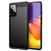 Carbon Fiber Cases For Samsung Galaxy Quantum 2 A02 M02 A12 A22 A32 A42 A52 A72 F62 M62 M12 Case Soft TPU Gel Skin Silicon Cover