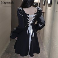 Casual Dresses Arrivals Bodycon Backless Bandage Dress Black Sexy Mini Women Long Sleeve Nightclub For Vestidos 12049