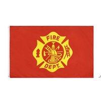 Fabrikpreis-Handting 3 von 5 ft Polyester Vereinigte Staaten von Amerikaner Fire Fighter Feuerwehrmann Flag DWD5739