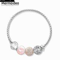 Chaîne de bracelet avec perle arabesque (Karma DIY) Cadeau de style Europe pour femmes Longueur plaquée en argent 16-23cm FIT 2021 Charms Link,