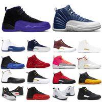12 12s Basketballschuhe Reverse Grippe Spiel Steinflügel Gamma Blue Herren XII Universität Gold Sport Sneakers Schuh