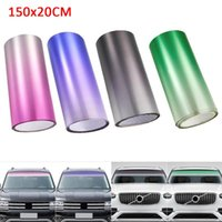 Car Sunshade 150x20cm Top Front Windshield Foil Solar Protection Gradient Color Tinting Film For Driver Driving Sun Visor Strip