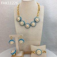 Earrings & Necklace Yuminglai FHK11226 Ziming Pearl Beads Earring Wedding Jewelry Luxury Bling Bridal Set Evening Dress