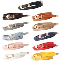 Belts High Quality Women Thin Belt Carved Buckle Jeans Leather Metal Casual All-match Female Colorful