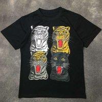 Fashion Mens T Shirt 2020 Famous Street High Quality Tiger Print Polos Short Sleeve Shirts 20ss Men Women Couples Stylist Hip Hop Tee