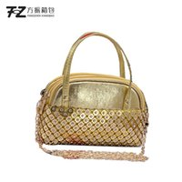 Handbags Shanghai new aluminum sheet Dinner Bag Fashion Ladies' banquet evening