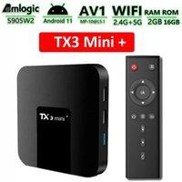 Smart TV Box Android 11 TX3 mini Plus Amlogic S905W2 Quad Core 2.4G 5G Wifi 100M 4K 60fps Media Player TX3Mini 2GB 16GB