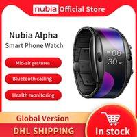 """디자이너 럭셔리 브랜드 시계 전역 버전 Nubia 알파 스마트 전화 4.01 """"Foldable 유연한 화면 Snapdragon 8909W 블루투스 호출"""
