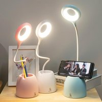 Table Lamps LED Desk Lamp Lanterns Flexible Foldable Eye Protection USB Powered ABS 0-5W Touch Reading Book Lights Children