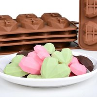 Baking Moulds 15cavities Mini Heart Chocolate Mold Silicone Candy Molds Gummy Jelly Mould Cake Decoration Accessories Gift