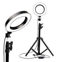 Hafif Halkası Kamera PO Studio Pooty Kısılabilir Video için YouTube Makyaj Selfie Tripod Telefon Tutucu Hücre Mounts Tutucular