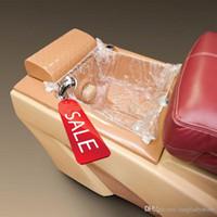 명확한 일회용 플라스틱 마사지 스파 라이너 풋 페디큐어 의자 네일 살롱 공급을위한 커버
