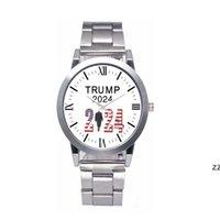 ترامب 2024 ساعات المعصم 5 أنماط حزب الإحسان ترامب حزام ووتش الرجعية إلكتروني مطبوعة الرجال الكوارتز Watchess HWF8876